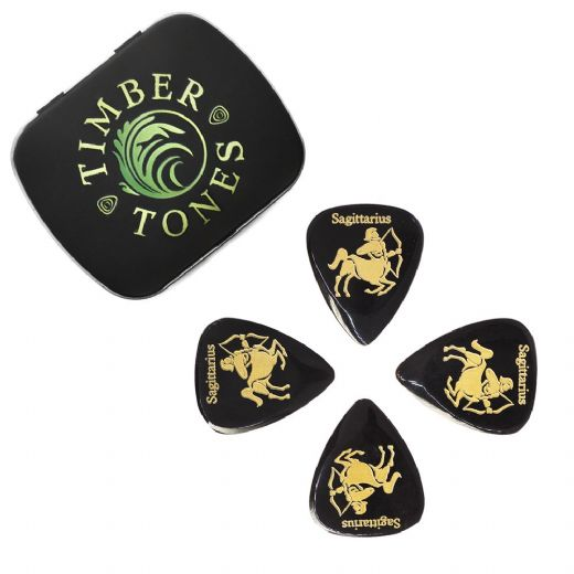 Zodiac Tones Sagittarius Tin of 4 Guitar Picks